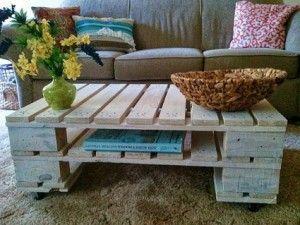 Ideas de muebles hechos con palets de madera