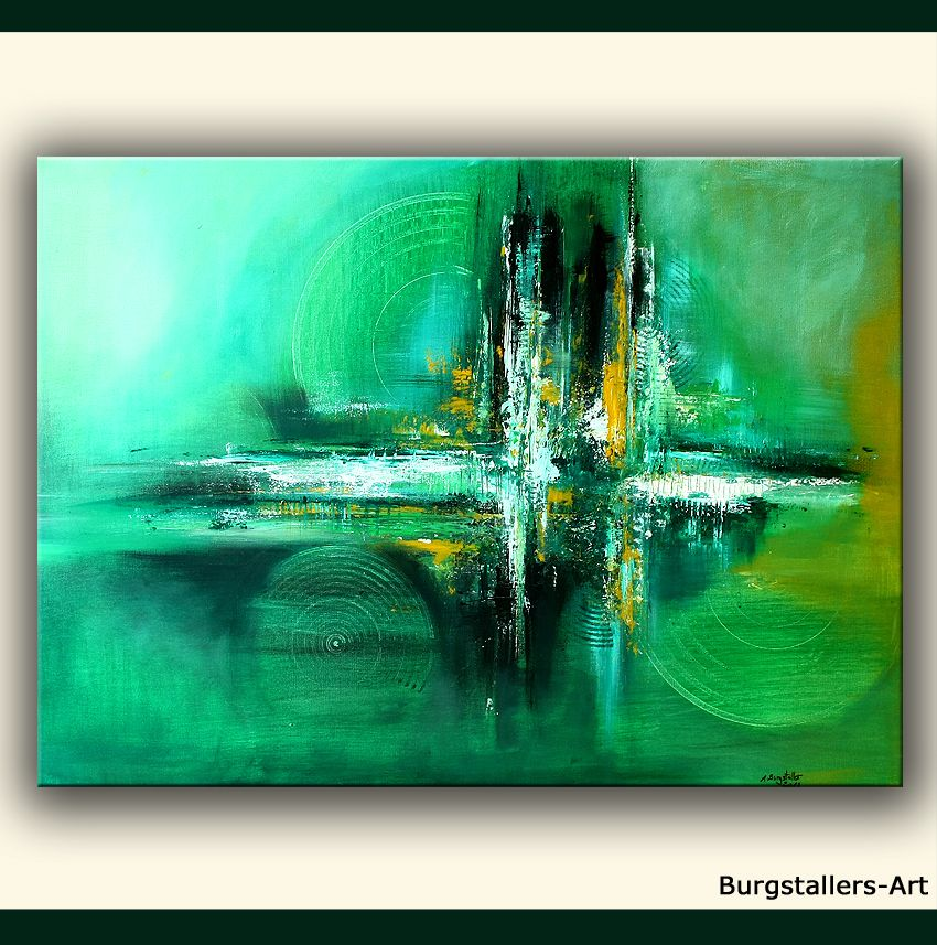 kabrebu art gr n acrylbild abstrakt original kunst sience unique bilder pinterest. Black Bedroom Furniture Sets. Home Design Ideas