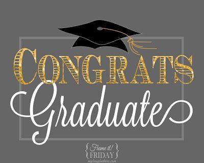 Congrats Graduate, a free graduation printable GRADUATION