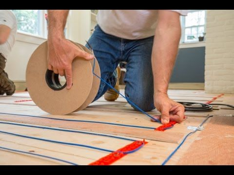 Installing Warmup Electric Radiat Heat Under Hardwood Flooring Radiant Floor Heating Engineered Wood Floors Floor Heating Systems