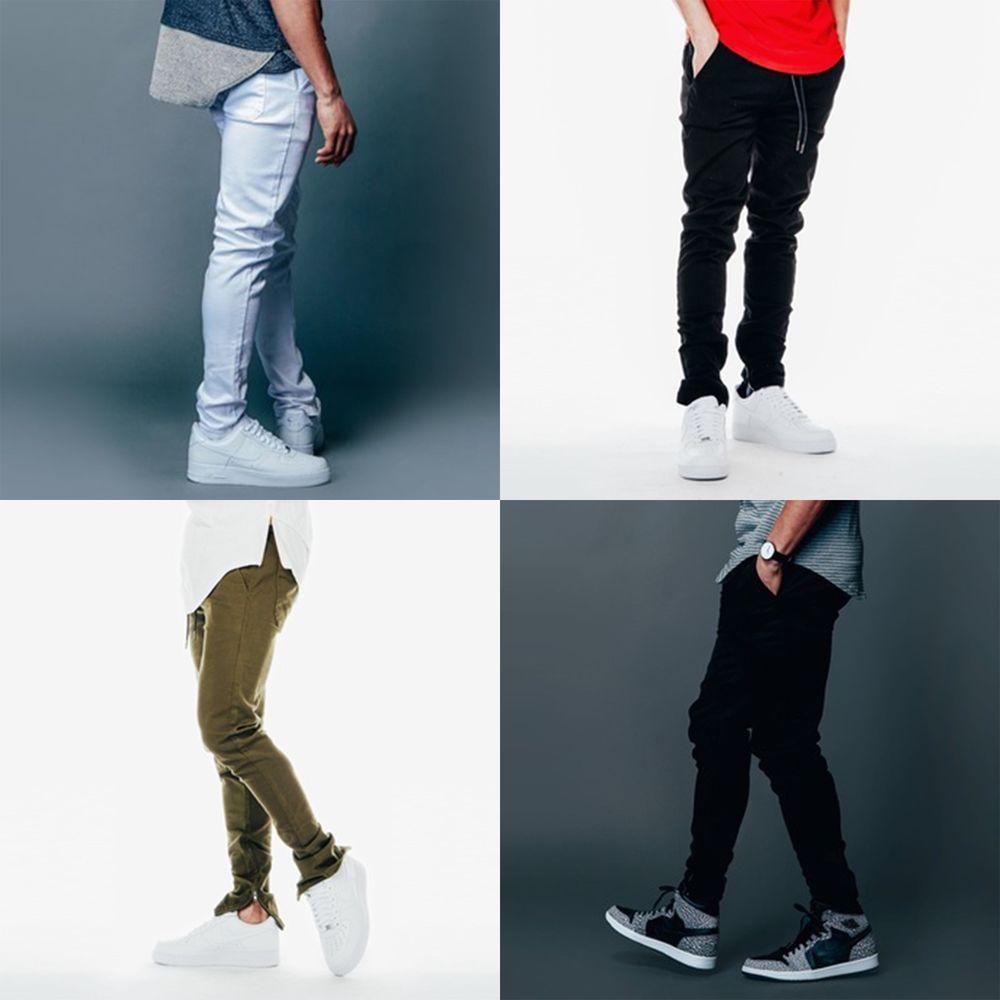 Details about KDNK Men's Tapered Ankle Zipper Slim Fit Jogger ...