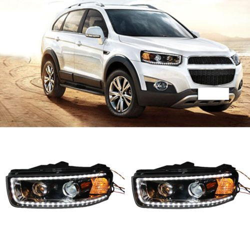 Headlights For Chevrolet Captiva With Led Drl And Bi Xenon Projector 2012 2015 Chevrolet Captiva Car Lights Car