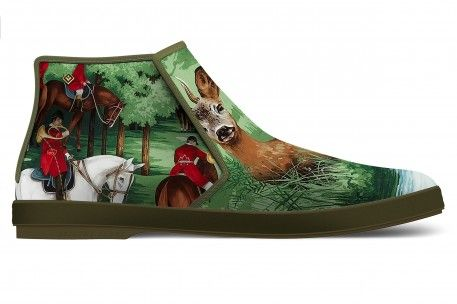 """la marca """"Rivieras Leisure Shoes"""" presentó en Le Bon Marché de París su calzado exclusivo con las #telas """"Versailles"""" de Pierre Frey."""