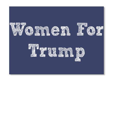 Women For  Trump Dk Navy Sticker Front