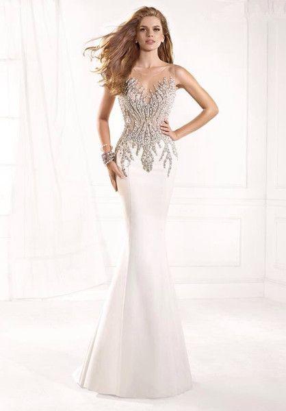 CG Boutique 2015 Christina Joiner Mermaid Evening Dress 1-2X