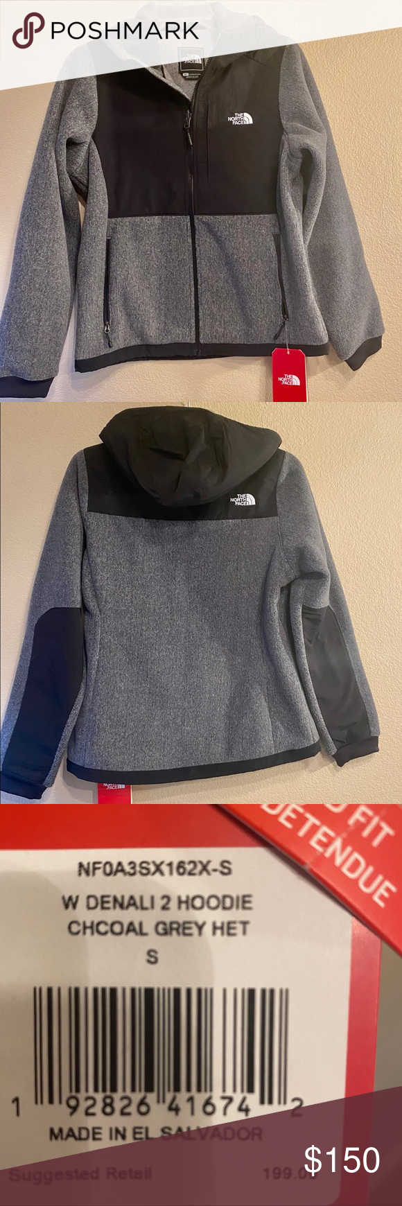 North Face Jacket Hoodie Denali 2 The North Face Dinali To Hoodie Thick Fabric Beautiful Charcoal Gray Color North Face Jacket Hoodie Jacket The North Face [ 1740 x 580 Pixel ]
