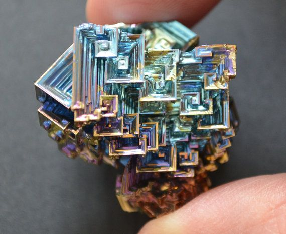 Bismuth Crystal Large Iridescent Rainbow Colors 39 X 49mm