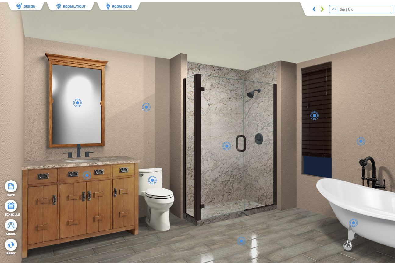 Try our new bathroom design app! in 10  New bathroom designs