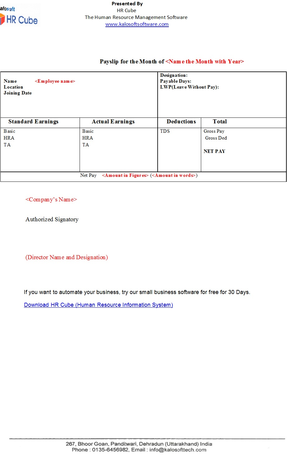 14+ Free Salary Slip Templates MS Word, Excel & PDF