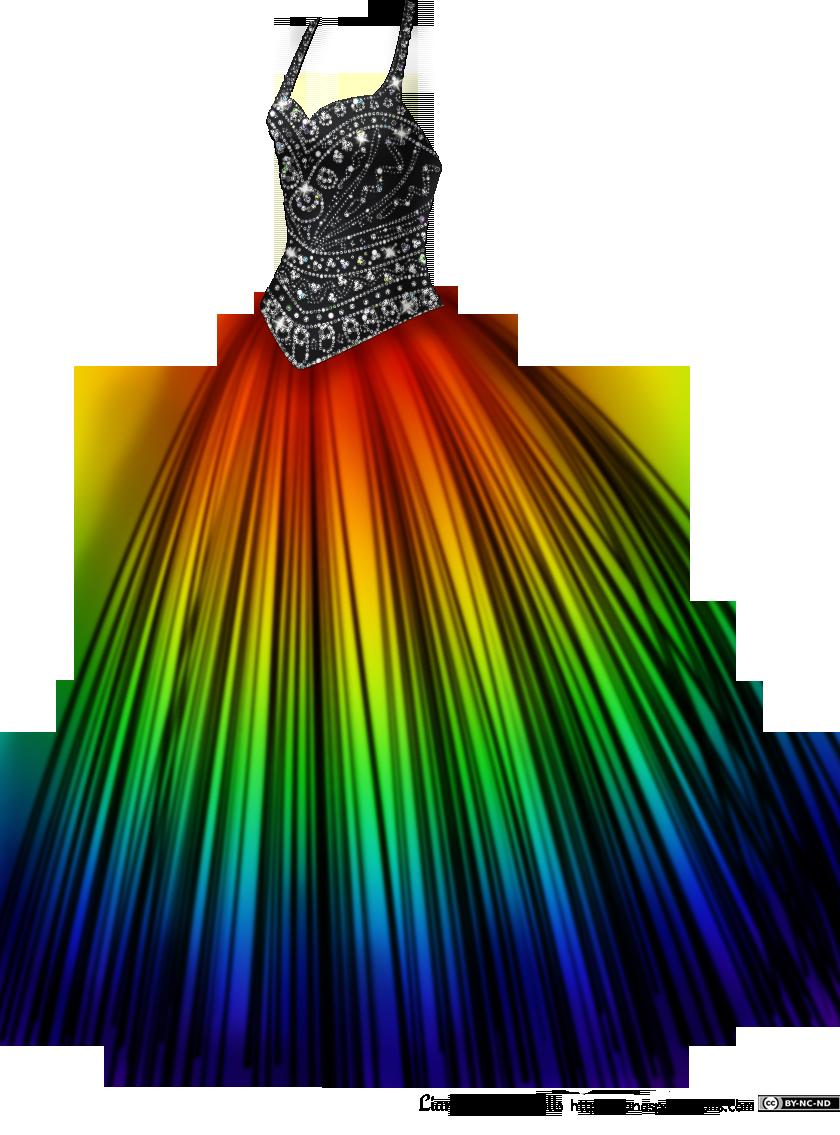 Rainbow Ball Gown Dresses