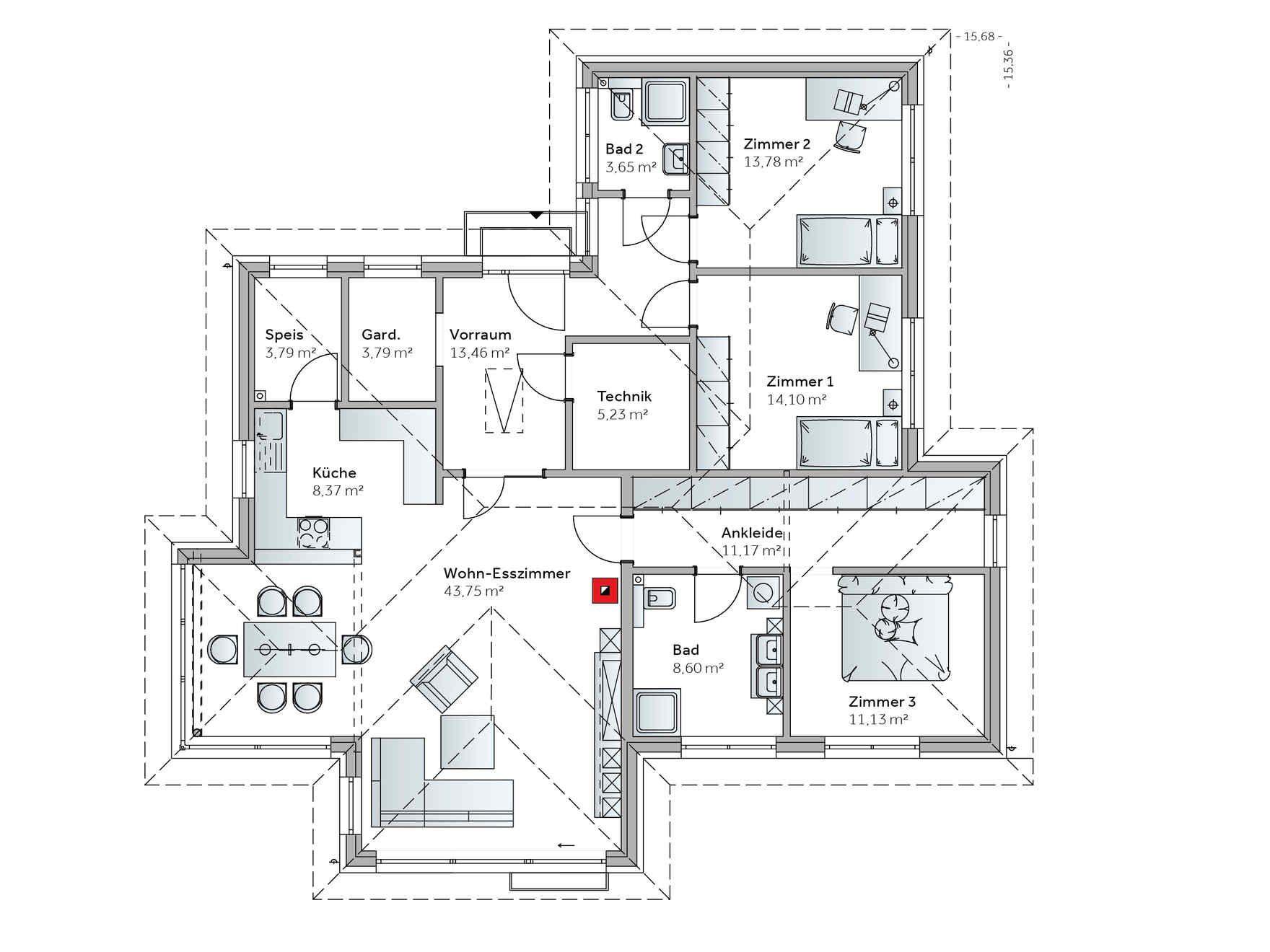 Fertighaus Bungalow S141 Fertighaus bungalow, Haus bungalow
