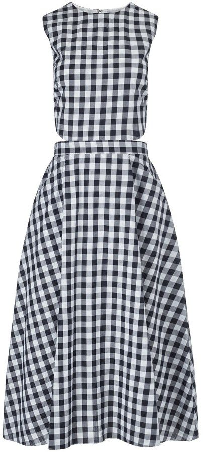 9dbd4335911 Tanya Taylor Black Cotton Monica Gingham Dress