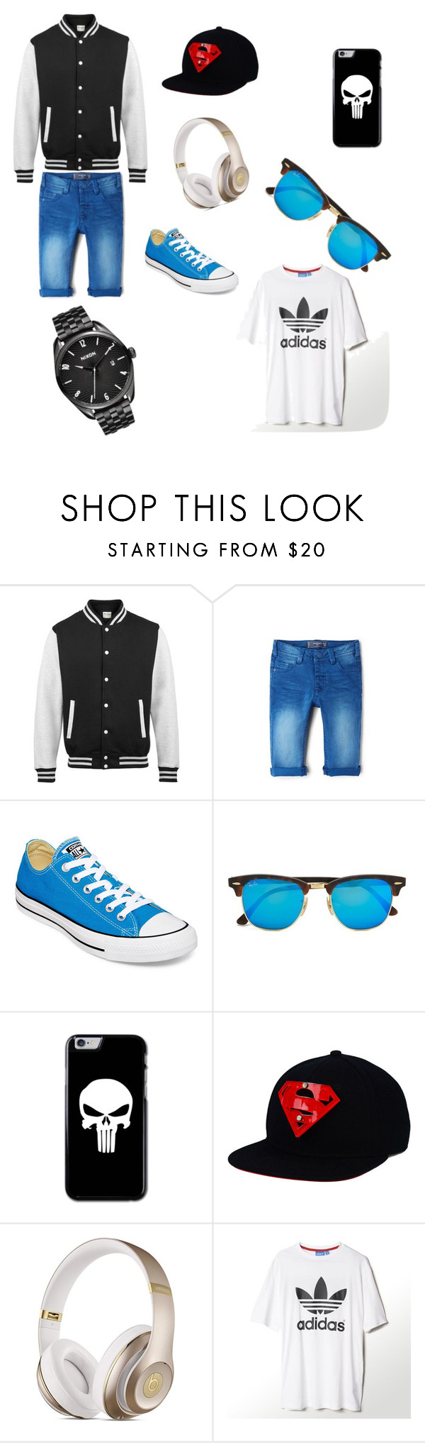 """Boy's style :)"" by alem-nuhanovic ❤ liked on Polyvore featuring MANGO, Converse, Ray-Ban, Beats by Dr. Dre, adidas, Nixon, women's clothing, women, female and woman"