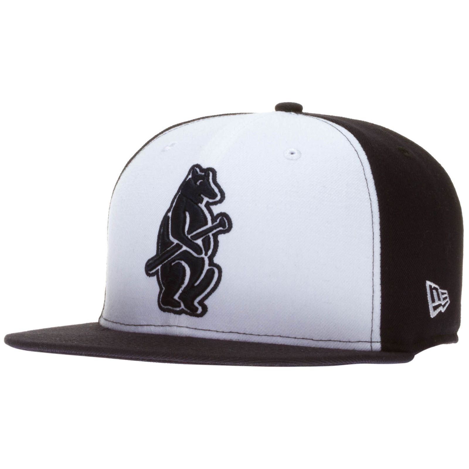 03ab071d19e Chicago Cubs White and Navy Over-Size 1914 Bear with Bat Logo Snapback Hat  by New Era  Chicago  Cubs  ChicagoCubs