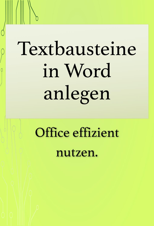 Word Tipps Textbausteine Word Tipps Effizient Mit Word Arbeiten Textbausteine Anlegen Und Einfugen Wordtipps Den Perfekten Sc In 2020 Excel Tipps The Words Tipps