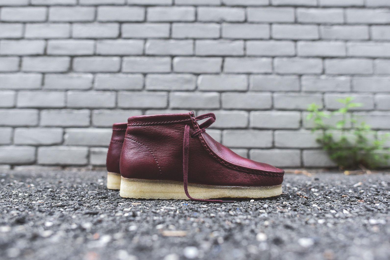 Clarks Wallabee Boot - Burgundy