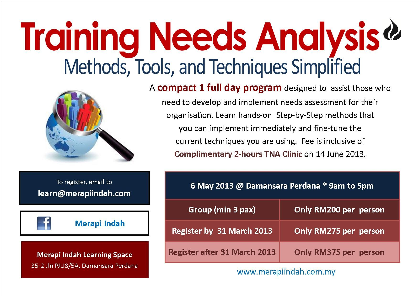 Training Needs Analysis Workshop At Damansara Perdana Petaling