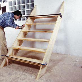 comment fabriquer un escalier d ext rieur en bois dor. Black Bedroom Furniture Sets. Home Design Ideas