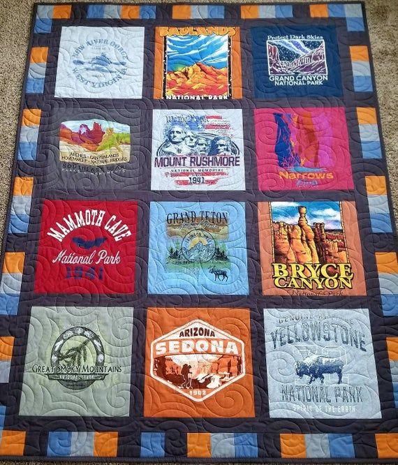 Custom Memory Quilt T-shirt Blanket Modern Memory Quilt Clothing Quilt Keepsake Quilt T-shirt Quilt Custom Handmade T-shirt Quilt