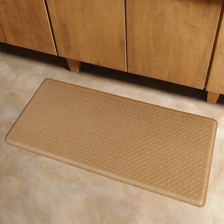 Gelpro Classic Anti Fatigue Kitchen Comfort Mat 20x48 Inch Basketweave Khaki Size 20 Inch X 48 Inch Kitchen Comfort Mat Basket Weaving Floor Mats