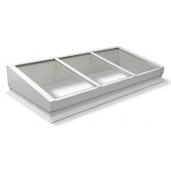 Verrière de toit avec vitrage modulaire 1 pente, dimensions au choix