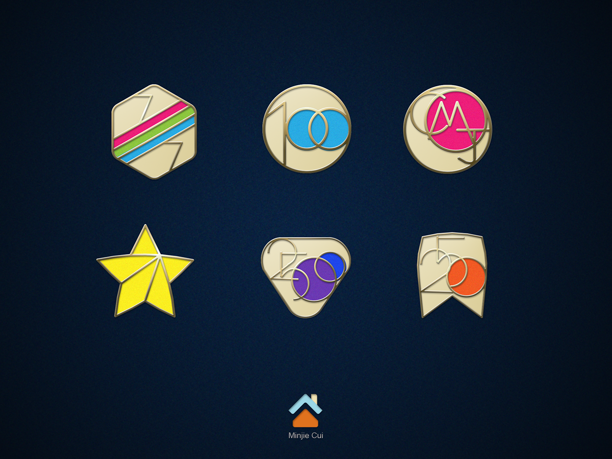 Icons Of Emblem In Apple Watch On Behance Icon Set Design Badge Design Apple Watch