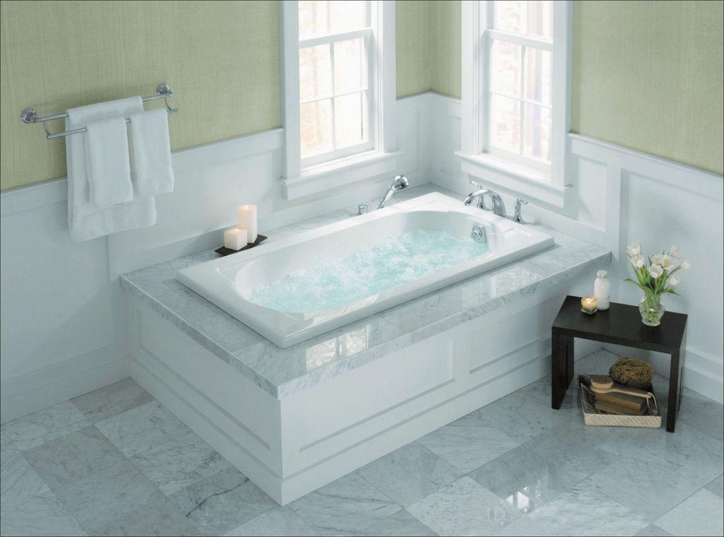 20 Totally Adorable Garden Tub Decorating Ideas Trenduhome Roman Tub Faucets Tub Enclosures Bathtub Decor