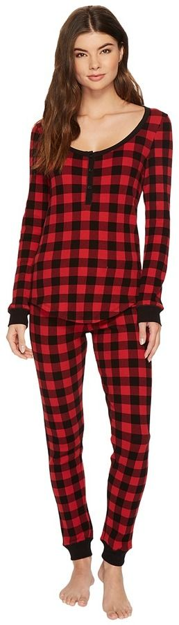 f547aa06b5 Plush - Thermal Buffalo Plaid PJ Set Women s Pajama Sets.  ad  buffaloplaid   pjs  winterclothes  womanspajamas