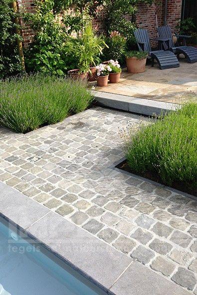 kandla grey, natuursteen, oprit, terras tegels, impermo, zandsteen - Pose De Pave Exterieur