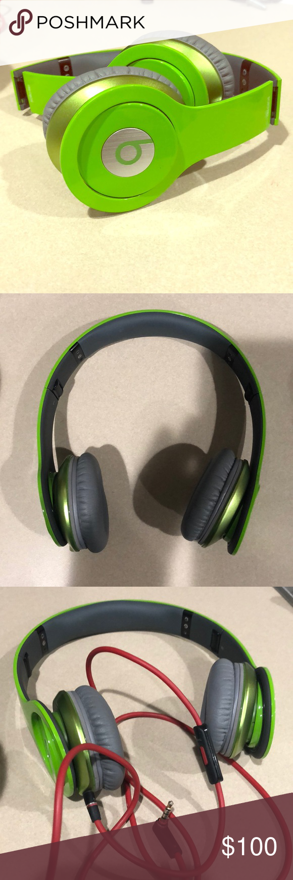 Beats By Dr Dre Solo Hd Lime Green Headphones With Control Talk