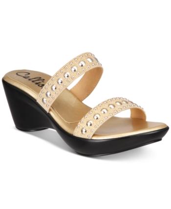16b7e68ac Callisto Beguile Slide Studded Platform Wedge Sandals
