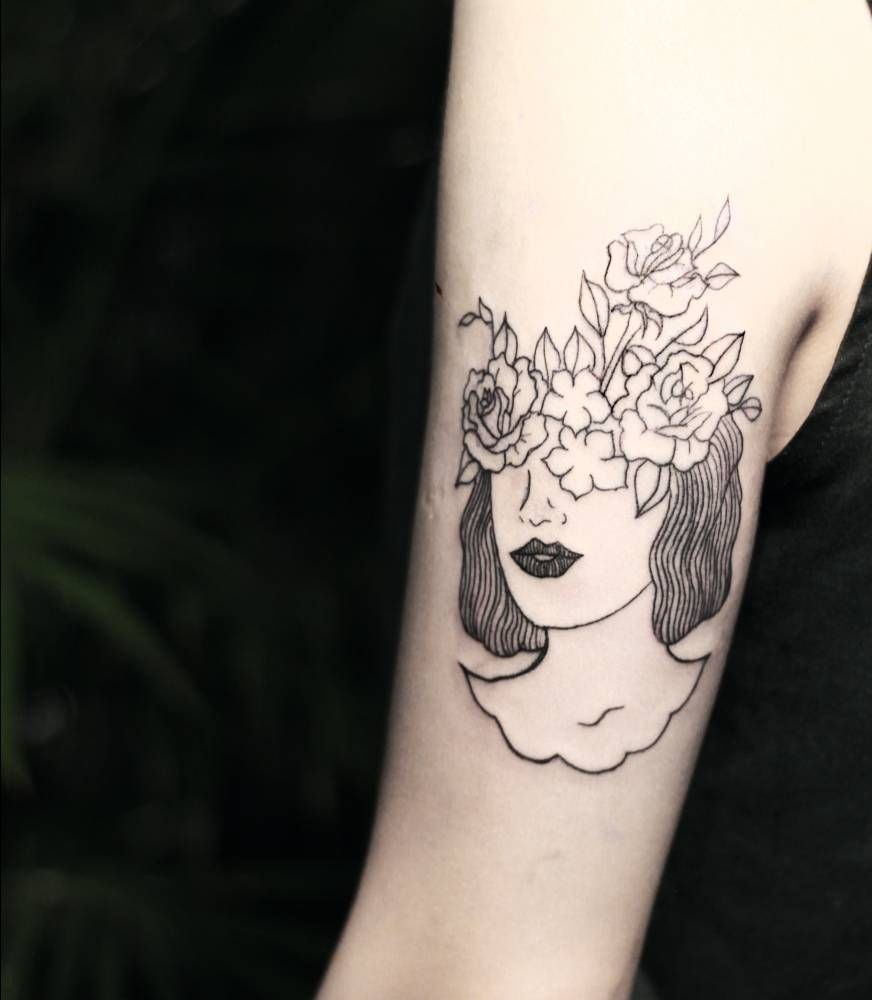 Floral Head Illustration (design brought in by client