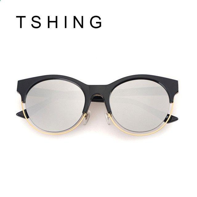 Vintage Sunglasses Trends - Mode date SIDERAL lunettes de soleil rondes  femmes marque Designer Super Star Rihanna vêtements Vintage Cat Eye miroir  lunettes ... f9f79366f985