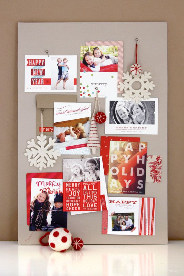 Modern Craft Board Christmas card display Xmas Craft Pinterest