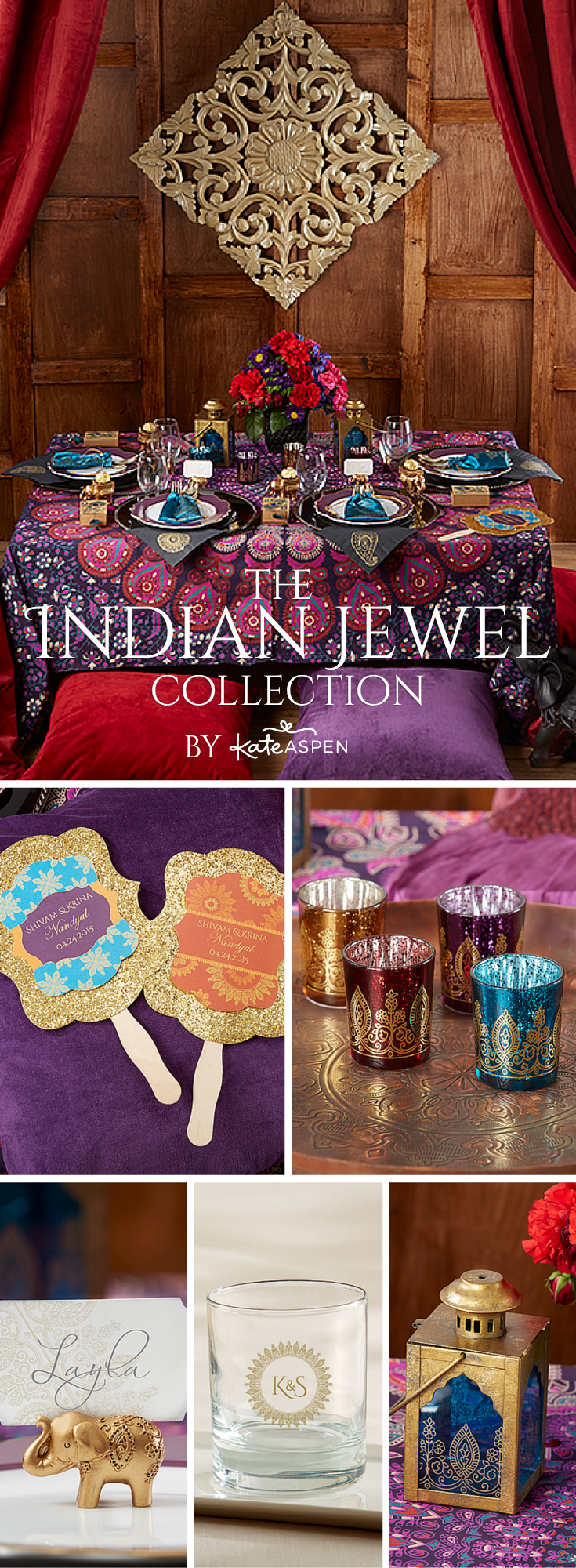 Featuring intricately detailed elephant favors and other ...