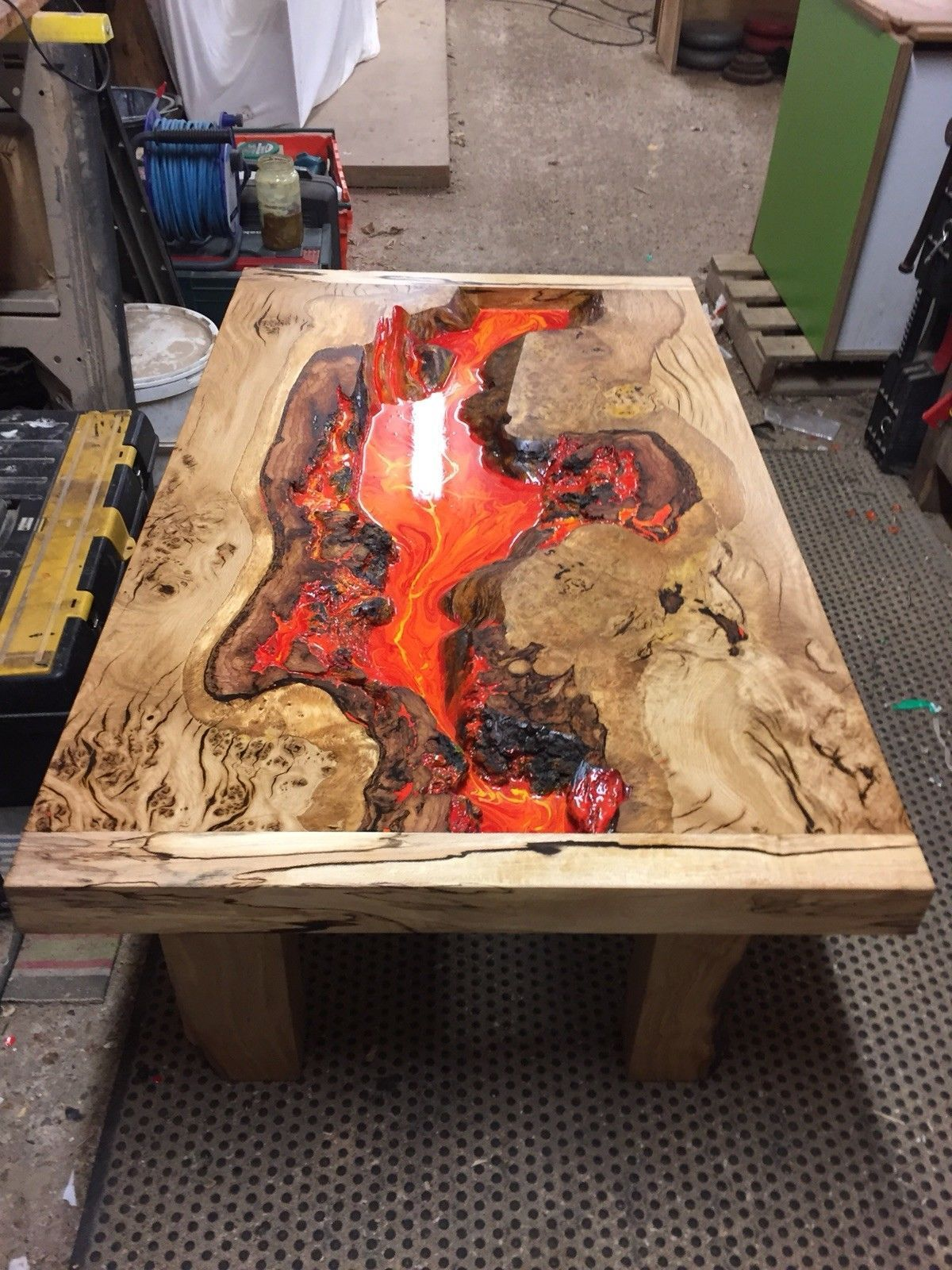 Glow Table Image By Jose Luis Gonzalez Wood Resin Table