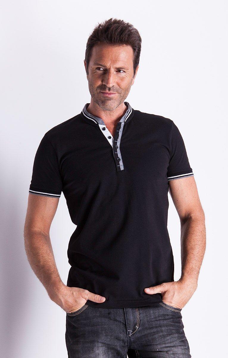 Polo manche longue - Armand Thiery Homme   Vêtements   Polo, Shirts ... 6dedf379be56
