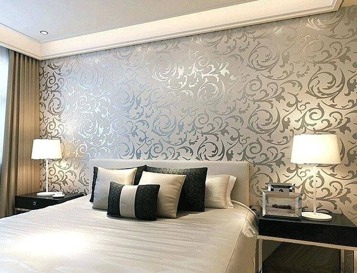 Top 50 Contemporary Wallpaper Ideas With Images Home Decor Ideas Uk Bedroom Wall Designs Bedroom Paint Design Modern Wallpaper Bedroom