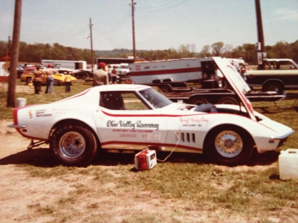 jesse ballew 39 s super stock corvette at ohio valley dragway vintage drag racing pinterest. Black Bedroom Furniture Sets. Home Design Ideas