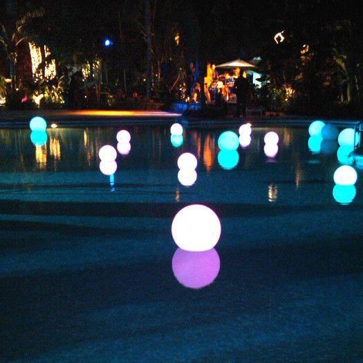Smart Green Ball Led 1 Light Deck Lighting Floating Lights Led Outdoor Lighting Party Lights