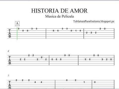 Historia De Amor Love Story Tablatura Para Guitarra Youtube Love Story Guitar Chords Guitar Tabs Guitar Tabs Songs