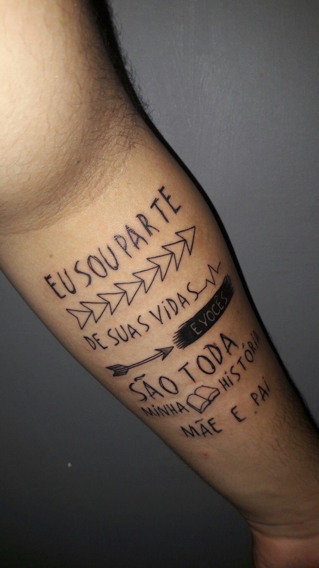 Tatuagem Frase Mãe E Pai Tatuaże Pinterest Tattoos I Piercings