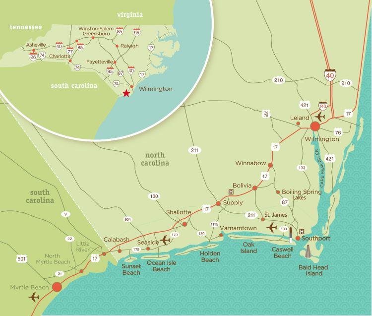 Coastal Nc S Brunswick Islands Are A Group Of Barrier Including Sunset Beach Ocean Isle Holden Oak Island And Bald Head