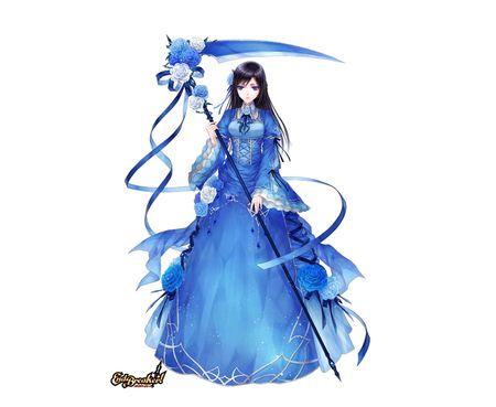 Blue rose scythe other wallpaper id 815447 desktop - Anime scythe wallpaper ...