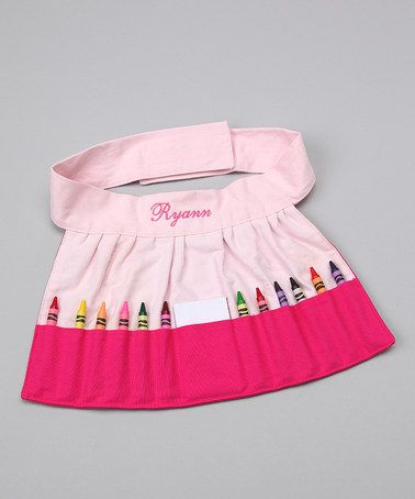 Take A Look At This Doodlebugz Pink Personalized Crayola Crayon Apron By Very Special