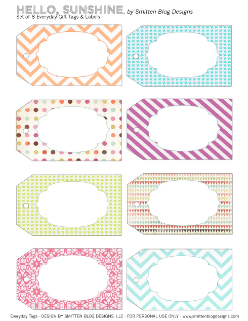graphic regarding Cute Gift Tags Printable identified as Printable Labels that are tremendous lovable! Why didnt I believe