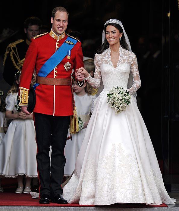 qué sucede con el vestido de novia de la duquesa de cambridge