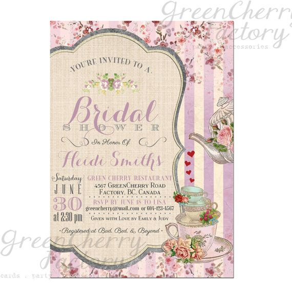17 Best images about Baby Girl Shower – Afternoon Tea Party Invitation