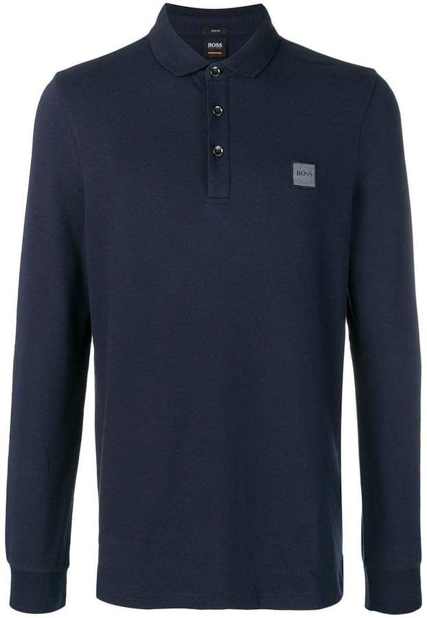 1c8cab4a Boss Hugo Boss Long Sleeve Polo Shirt | Products | Long sleeve polo ...