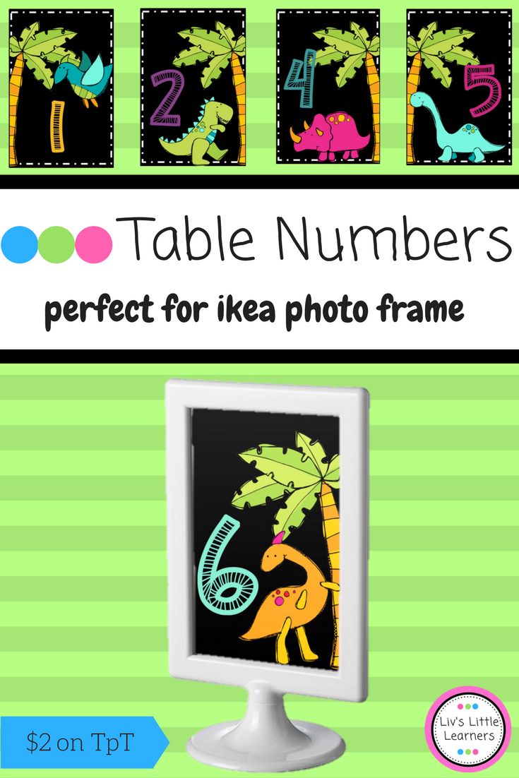 Ikea Frame Table Numbers (dinosaurs)   Math literacy, Classroom ...